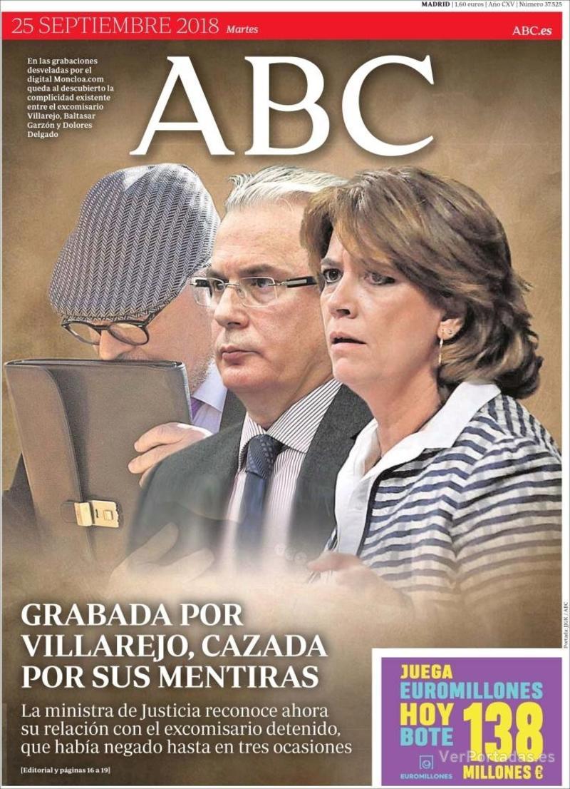 Portada ABC 2018-09-25