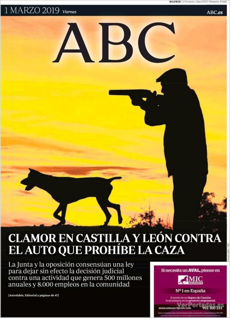 Portada ABC 2019-03-02