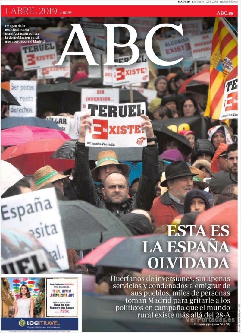 Portada ABC 2019-04-02