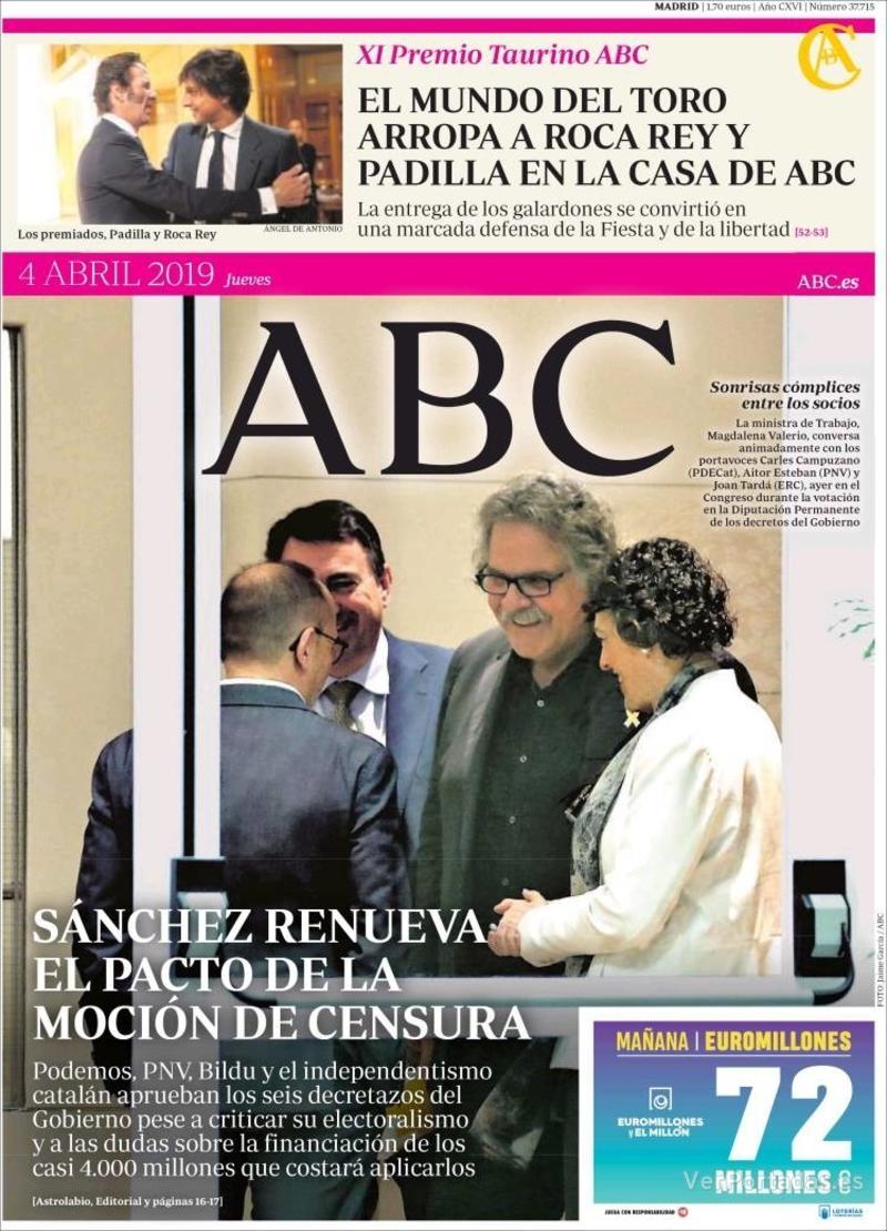 Portada ABC 2019-04-04