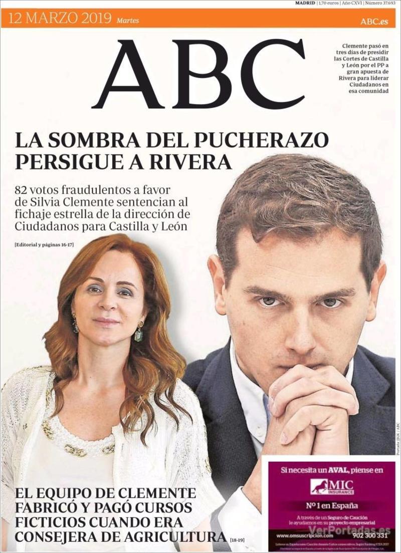 Portada ABC 2019-03-12