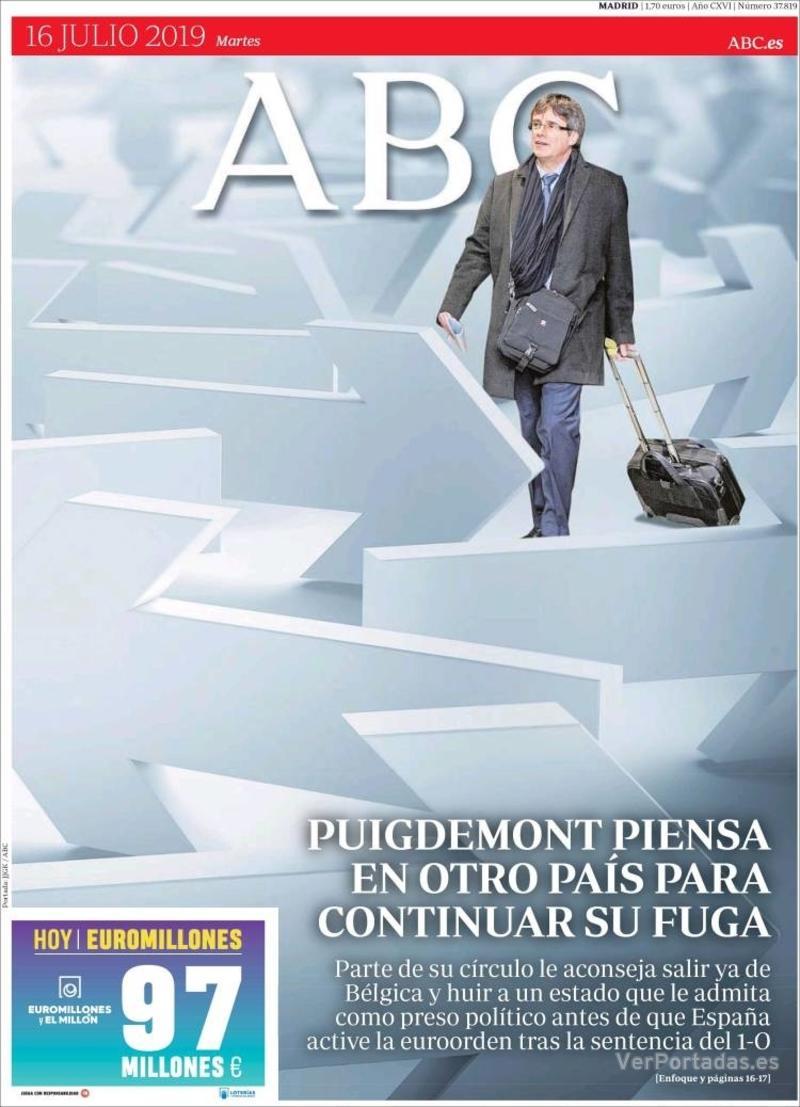 Portada La Vanguardia 2019-07-16