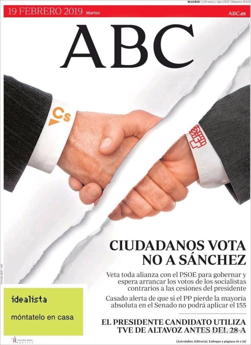 Portada ABC 2019-02-20