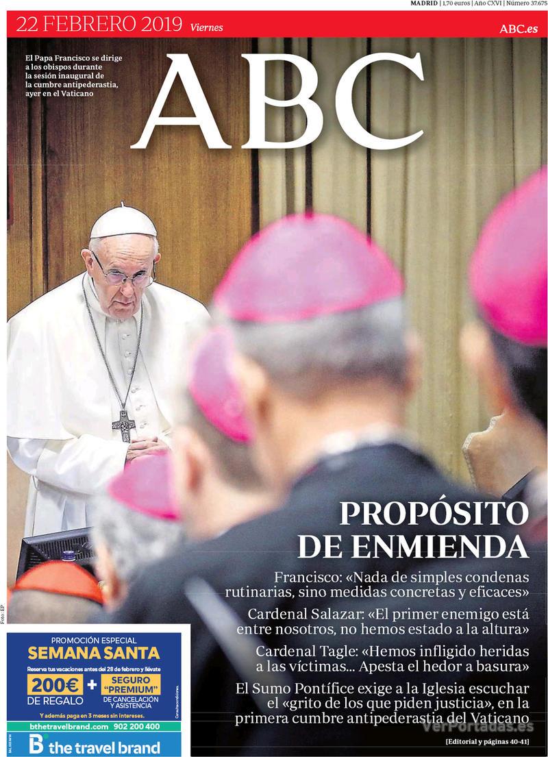 Portada ABC 2019-02-23