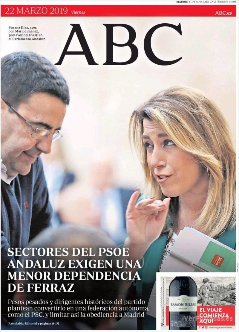 Portada ABC 2019-03-23