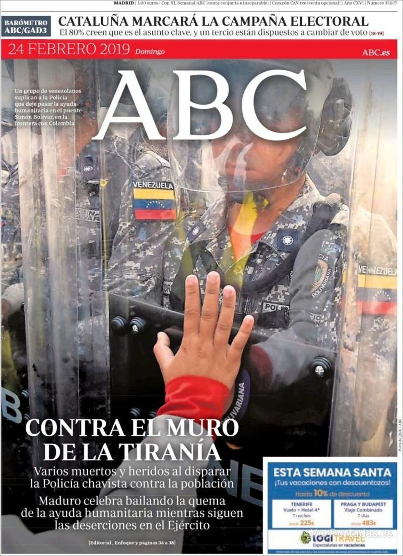 Portada ABC 2019-02-25