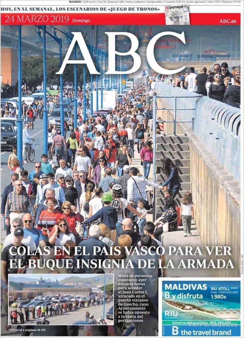 Portada ABC 2019-03-25