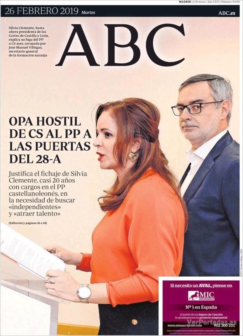 Portada ABC 2019-02-27