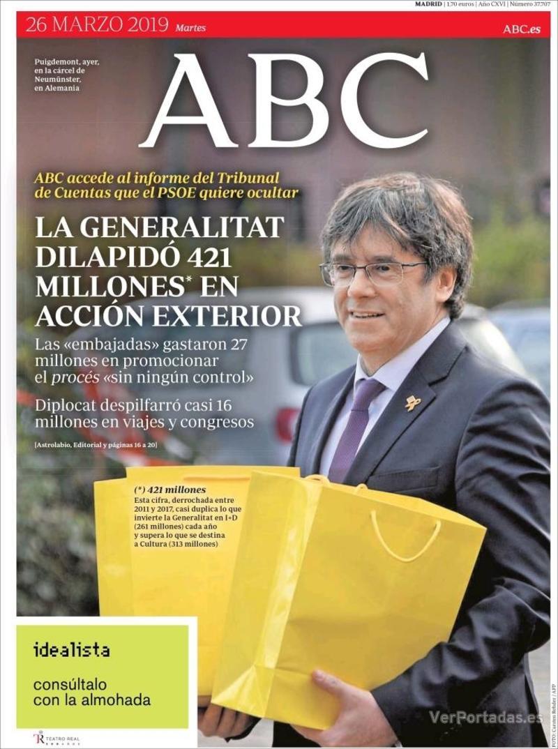 Portada ABC 2019-03-27