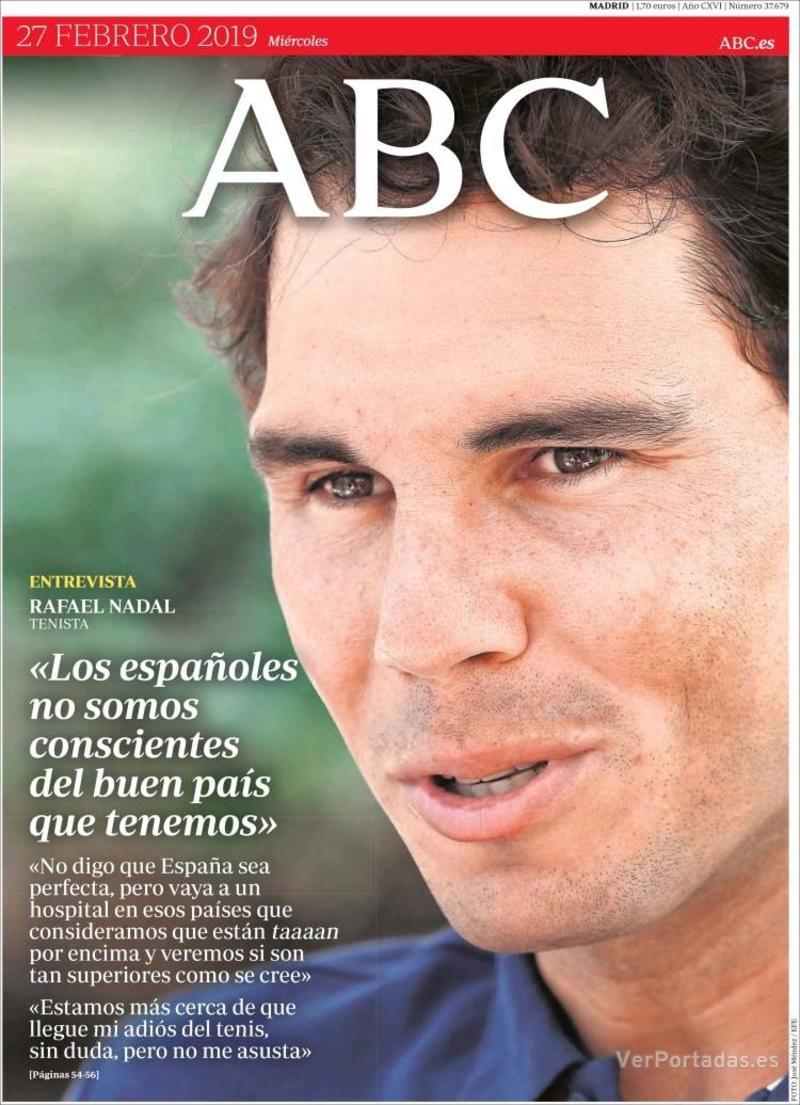Portada ABC 2019-02-28