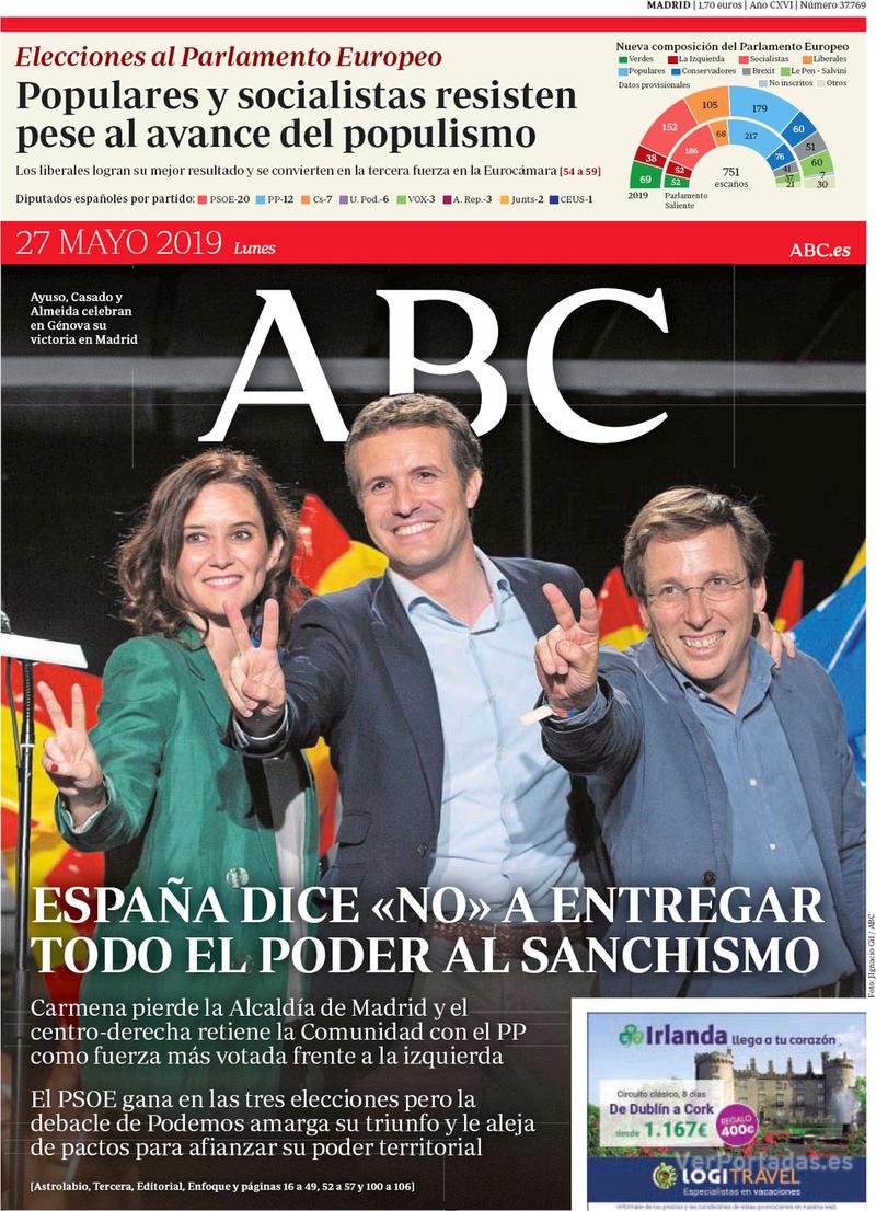 Portada ABC 2019-05-27