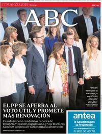 Portada ABC 2019-03-17