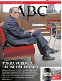 Portada ABC 2019-11-19