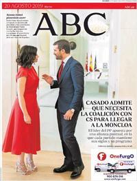 Portada ABC 2019-08-20