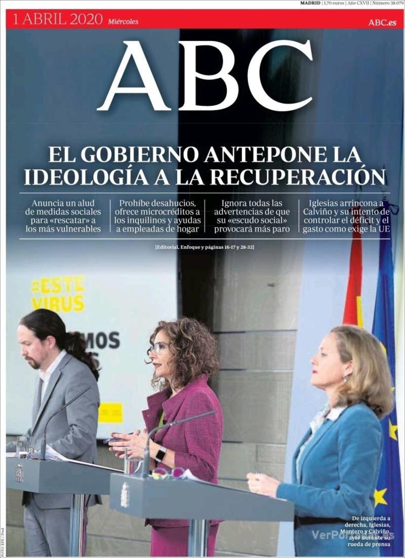 Portada ABC 2020-04-02