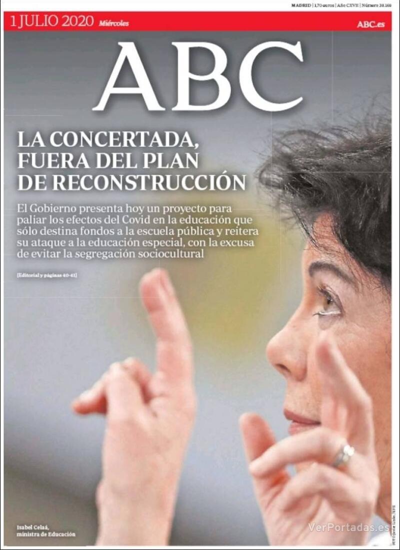 Portada ABC 2020-07-02