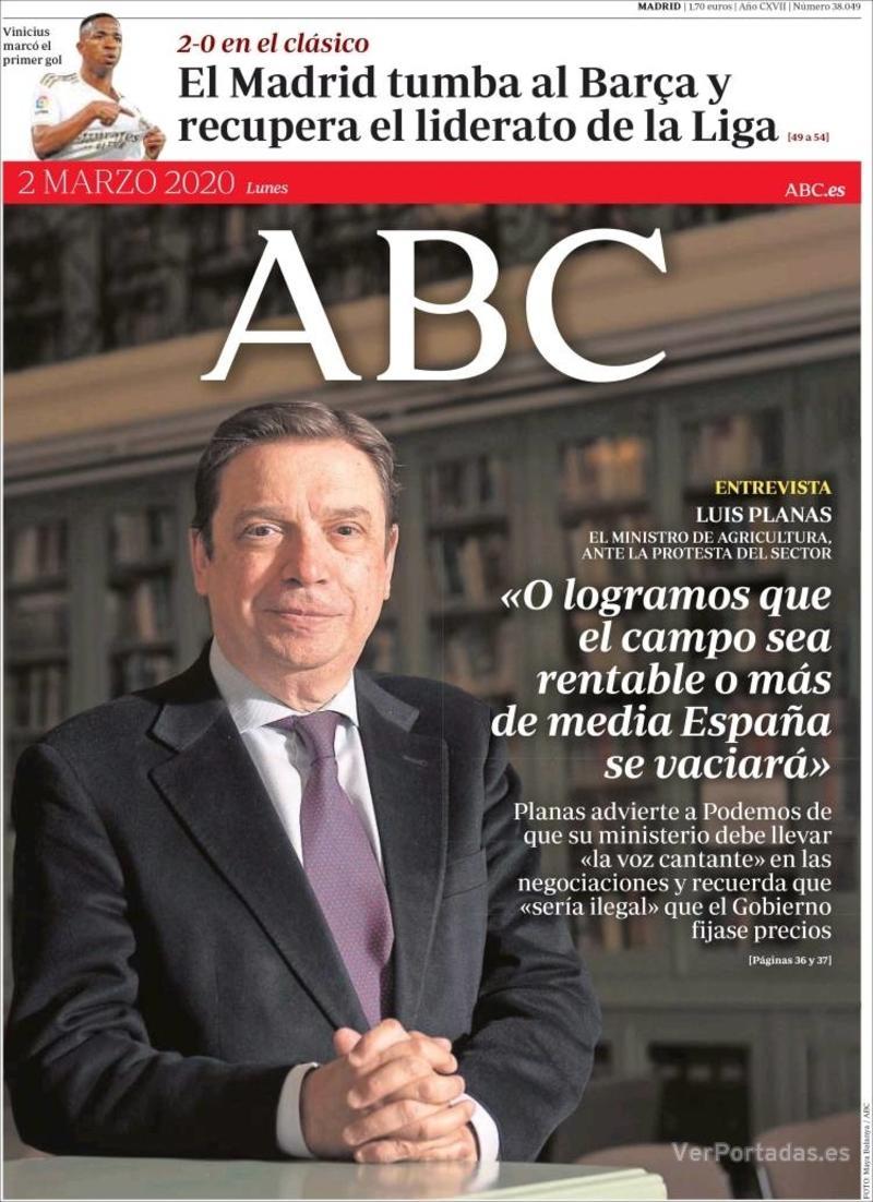 Portada ABC 2020-03-03