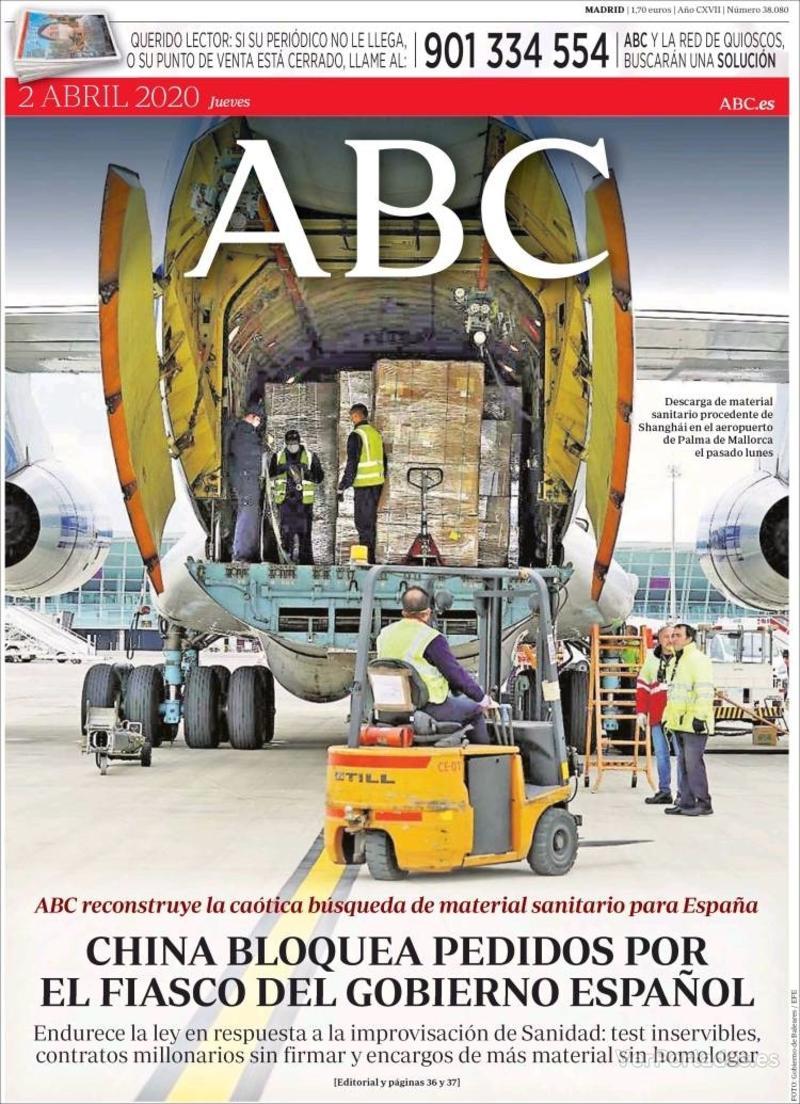 Portada ABC 2020-04-03