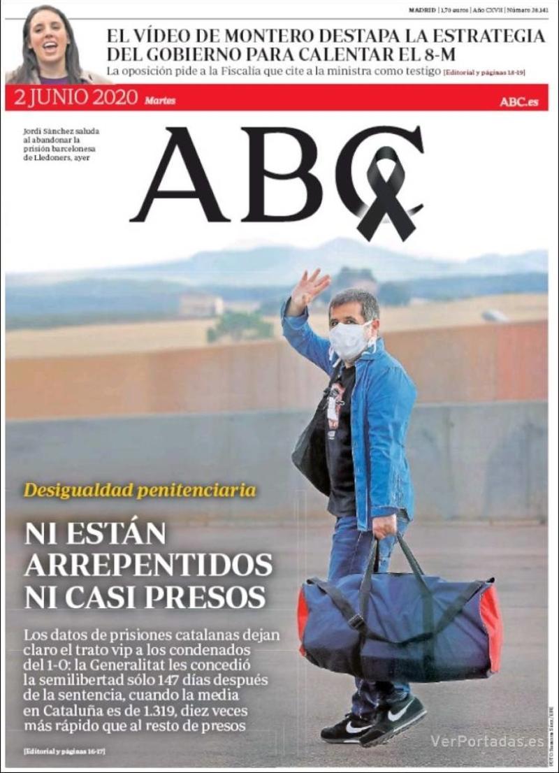 Portada ABC 2020-06-03