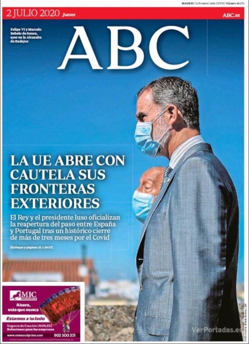 Portada ABC 2020-07-03