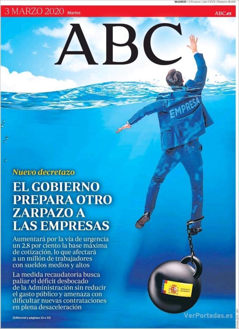 Portada ABC 2020-03-04