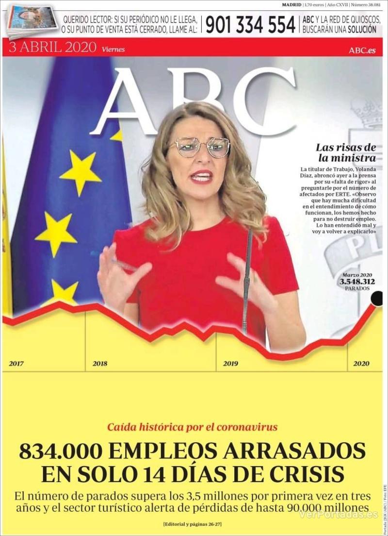 Portada ABC 2020-04-04