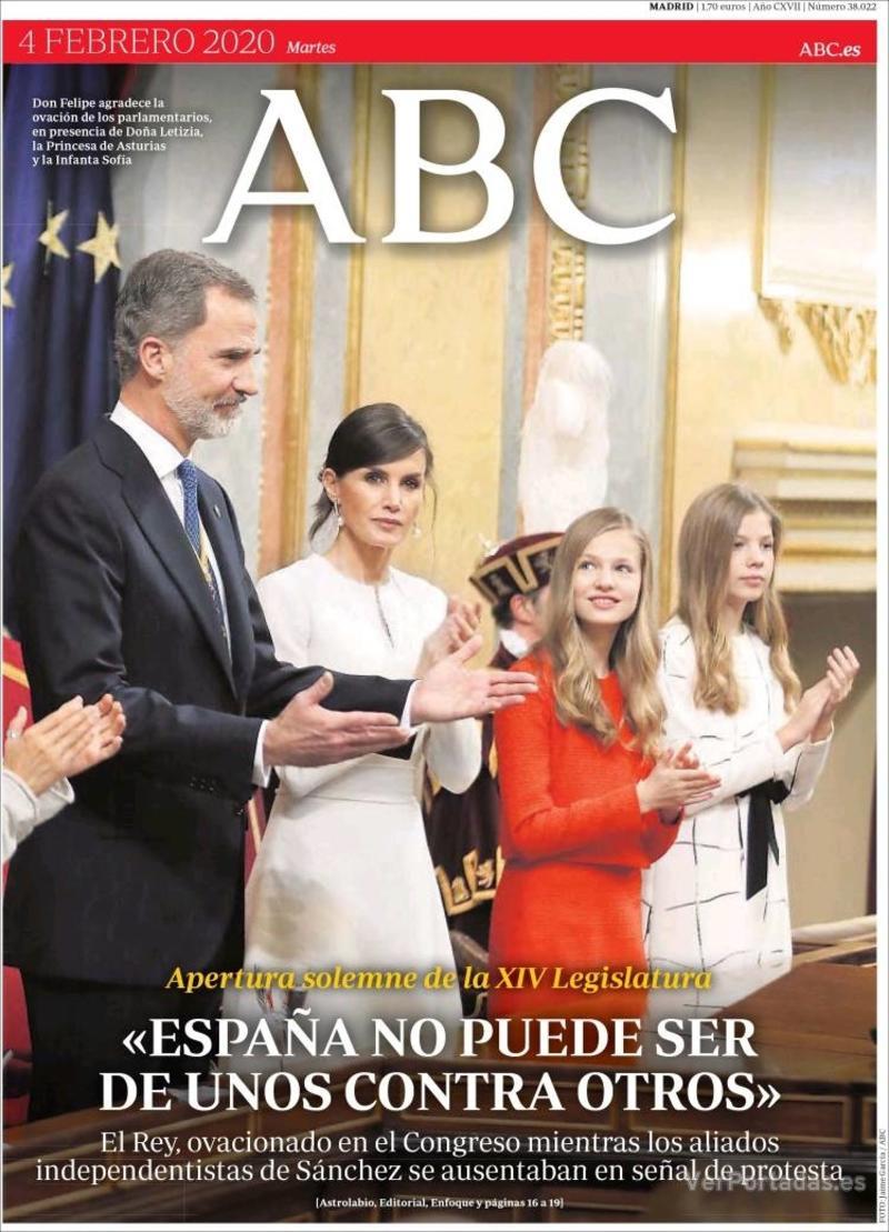 Portada ABC 2020-02-05