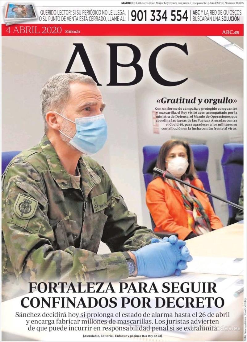 Portada ABC 2020-04-05