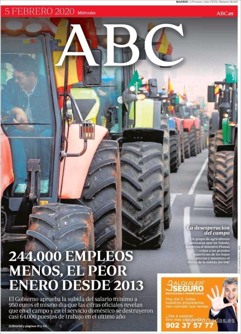 Portada ABC 2020-02-06