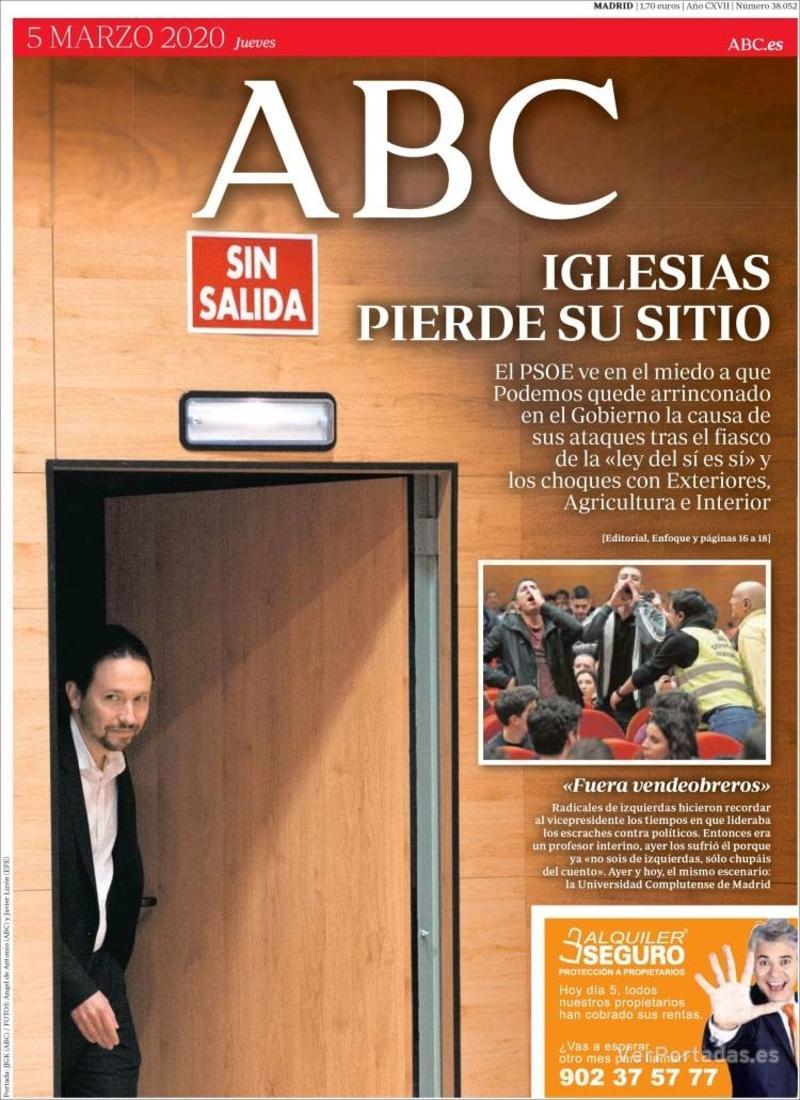 Portada ABC 2020-03-06