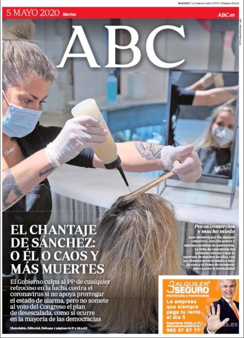 Portada ABC 2020-05-06