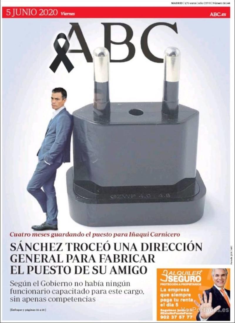 Portada ABC 2020-06-06