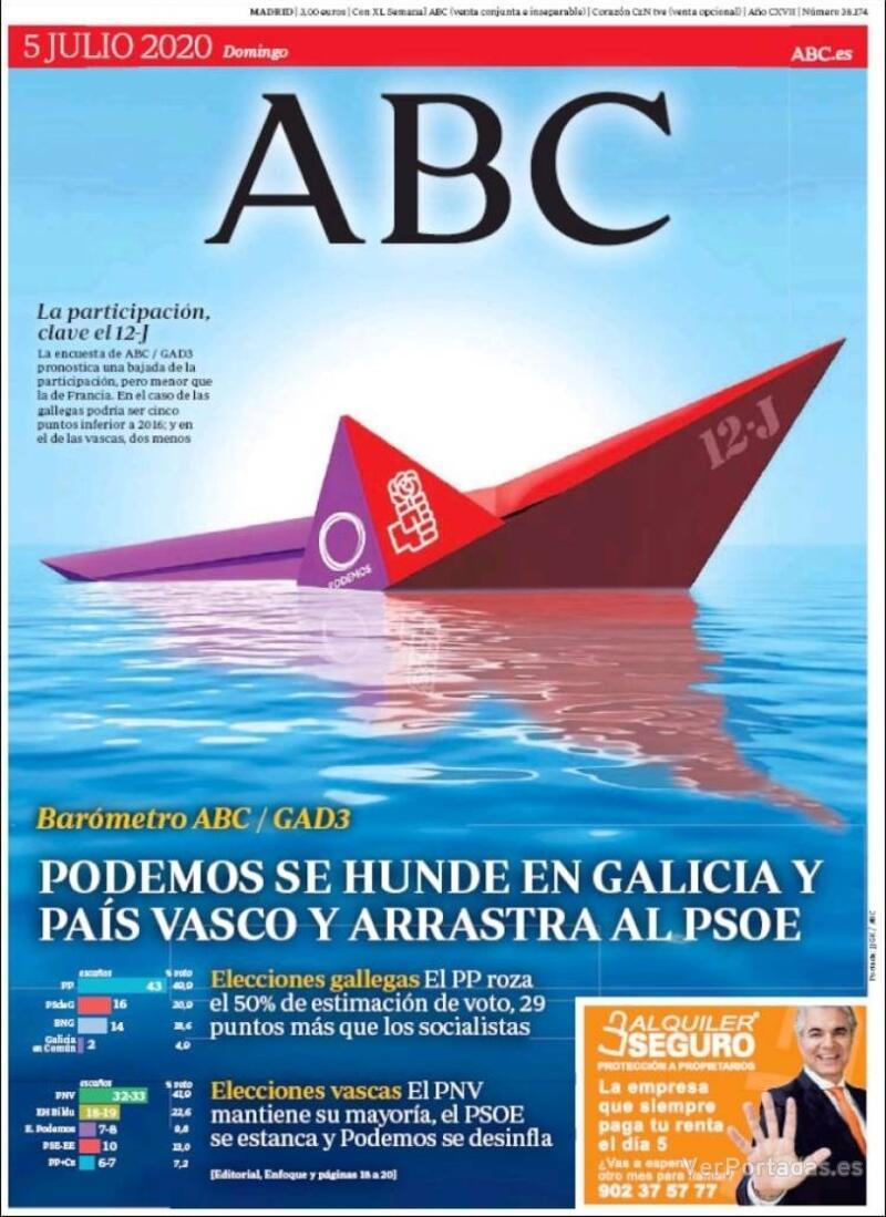 Portada ABC 2020-07-06
