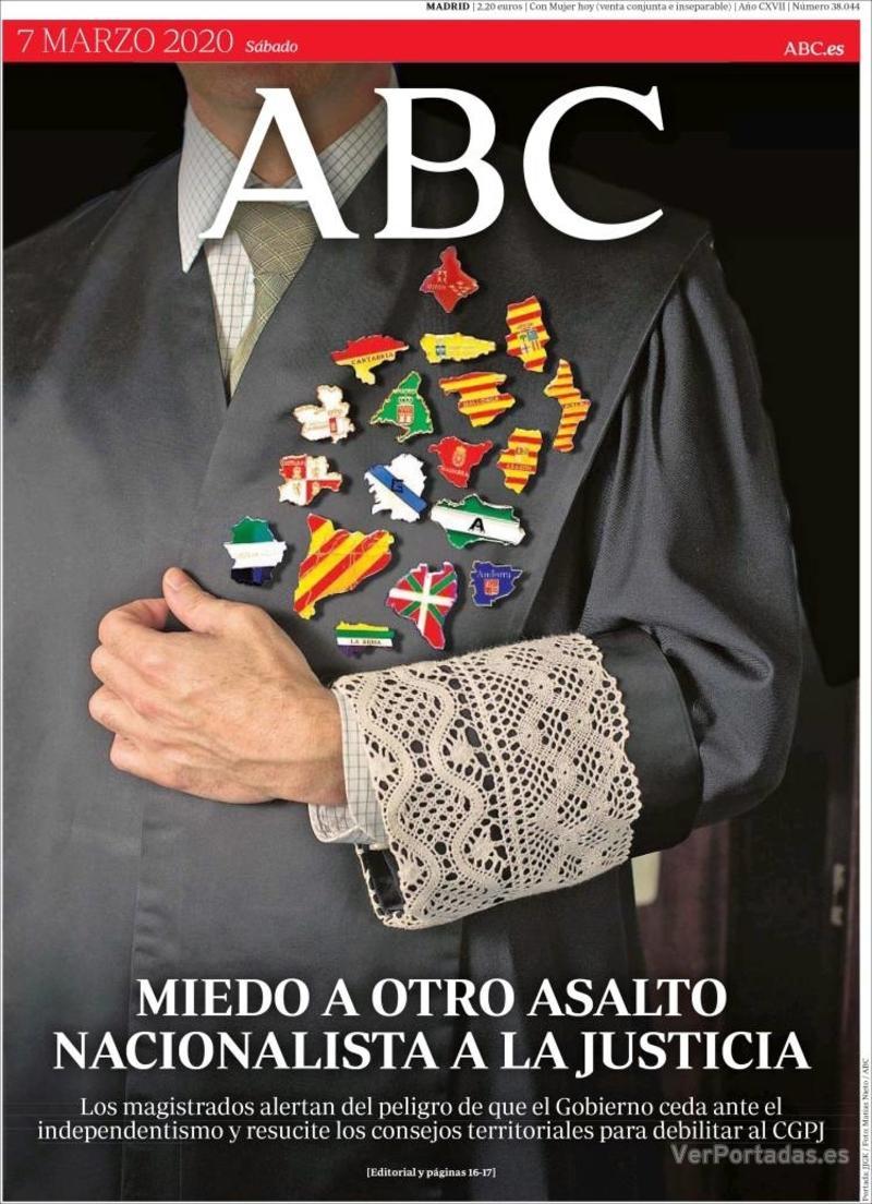 Portada ABC 2020-03-08