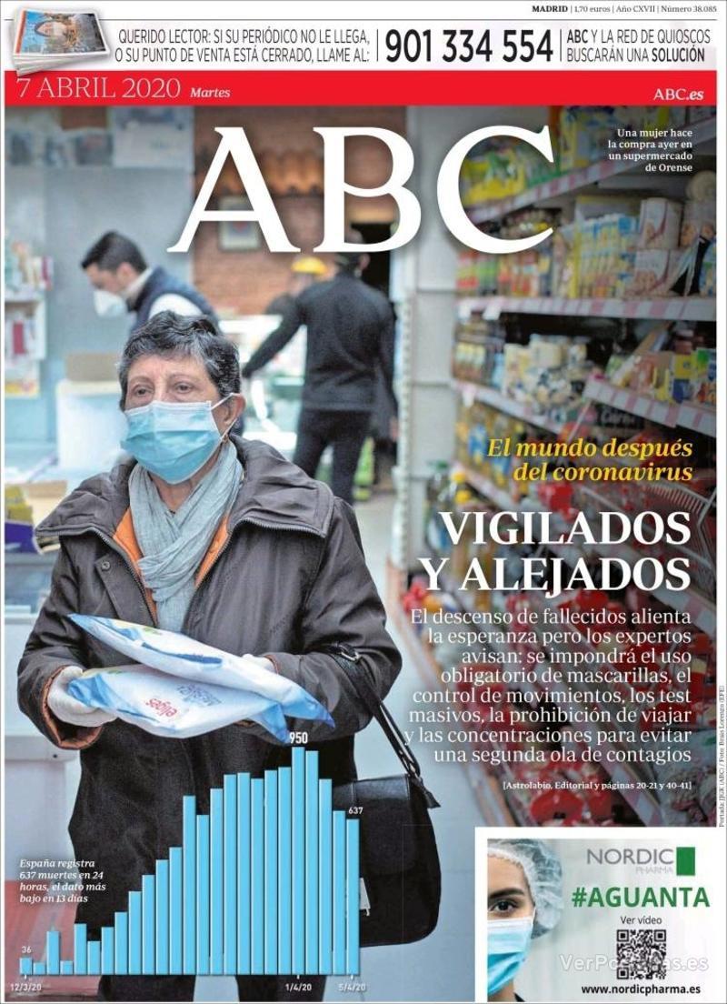 Portada ABC 2020-04-08