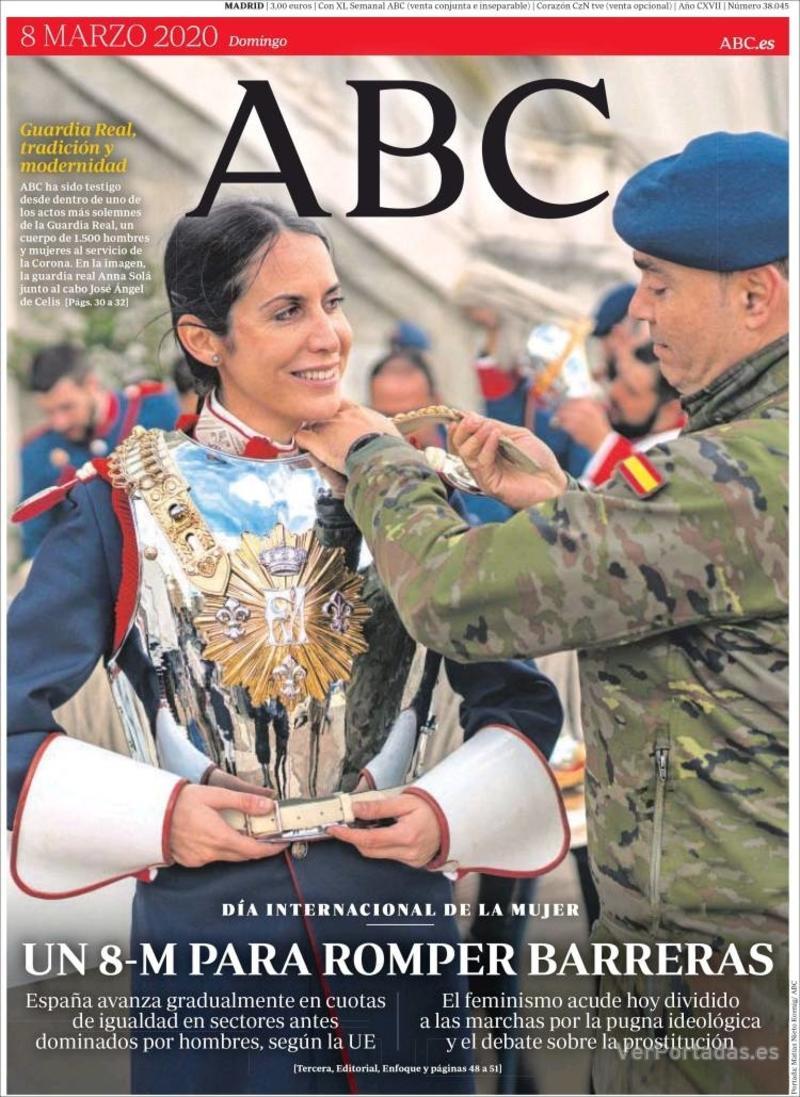 Portada ABC 2020-03-09