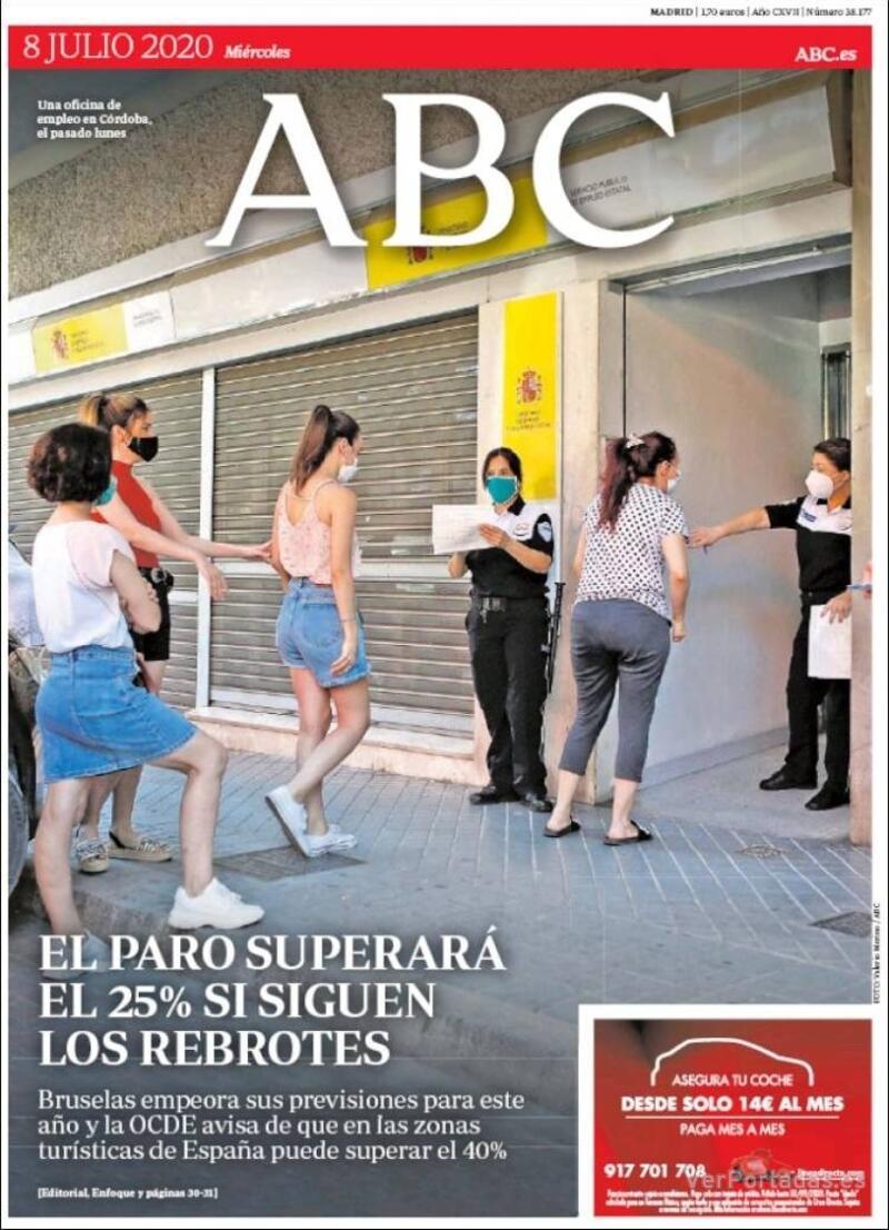 Portada ABC 2020-07-09