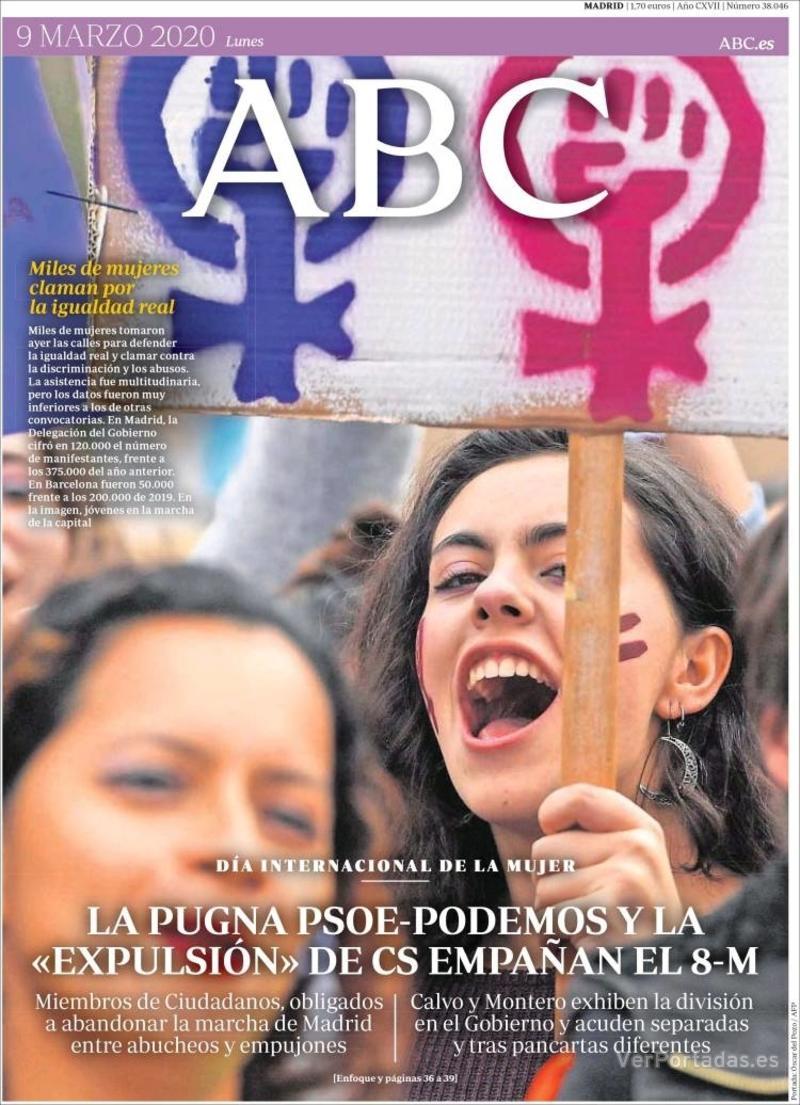 Portada ABC 2020-03-10