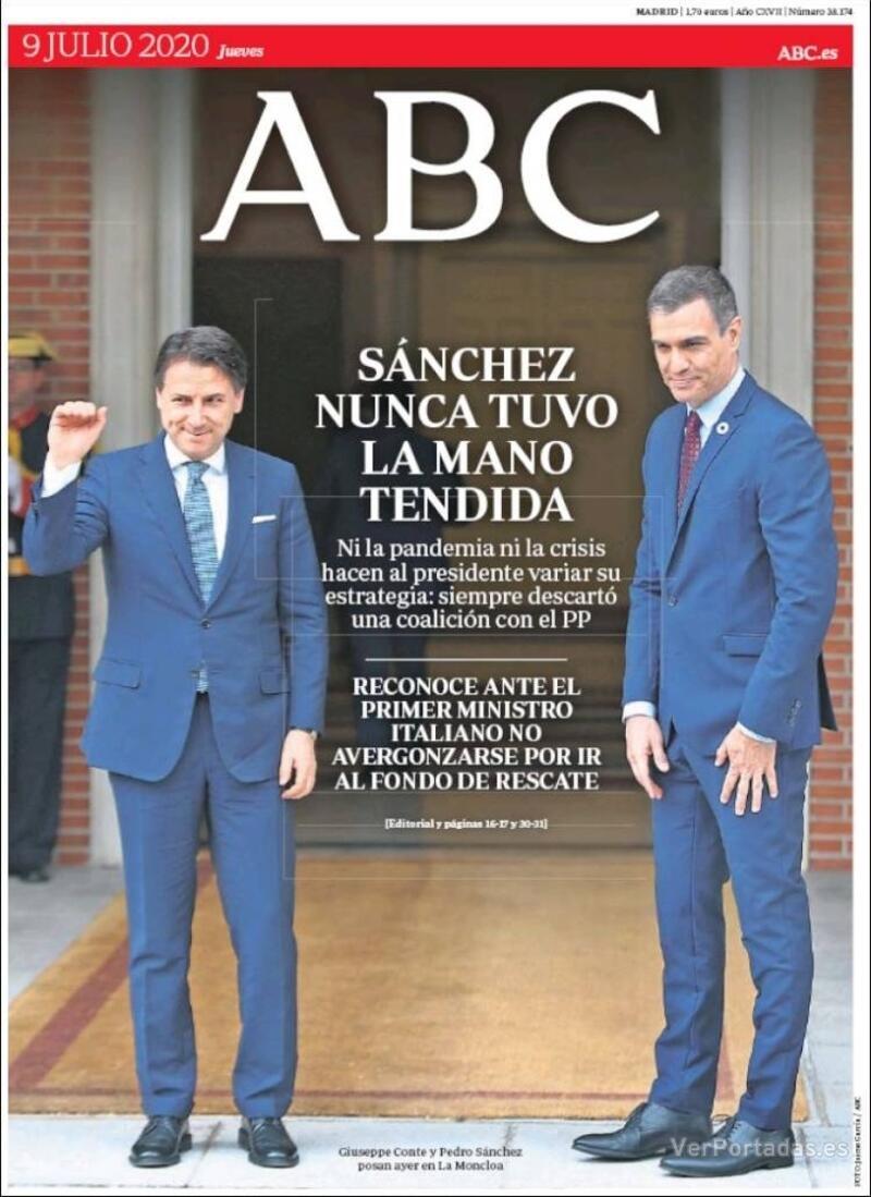 Portada ABC 2020-07-10