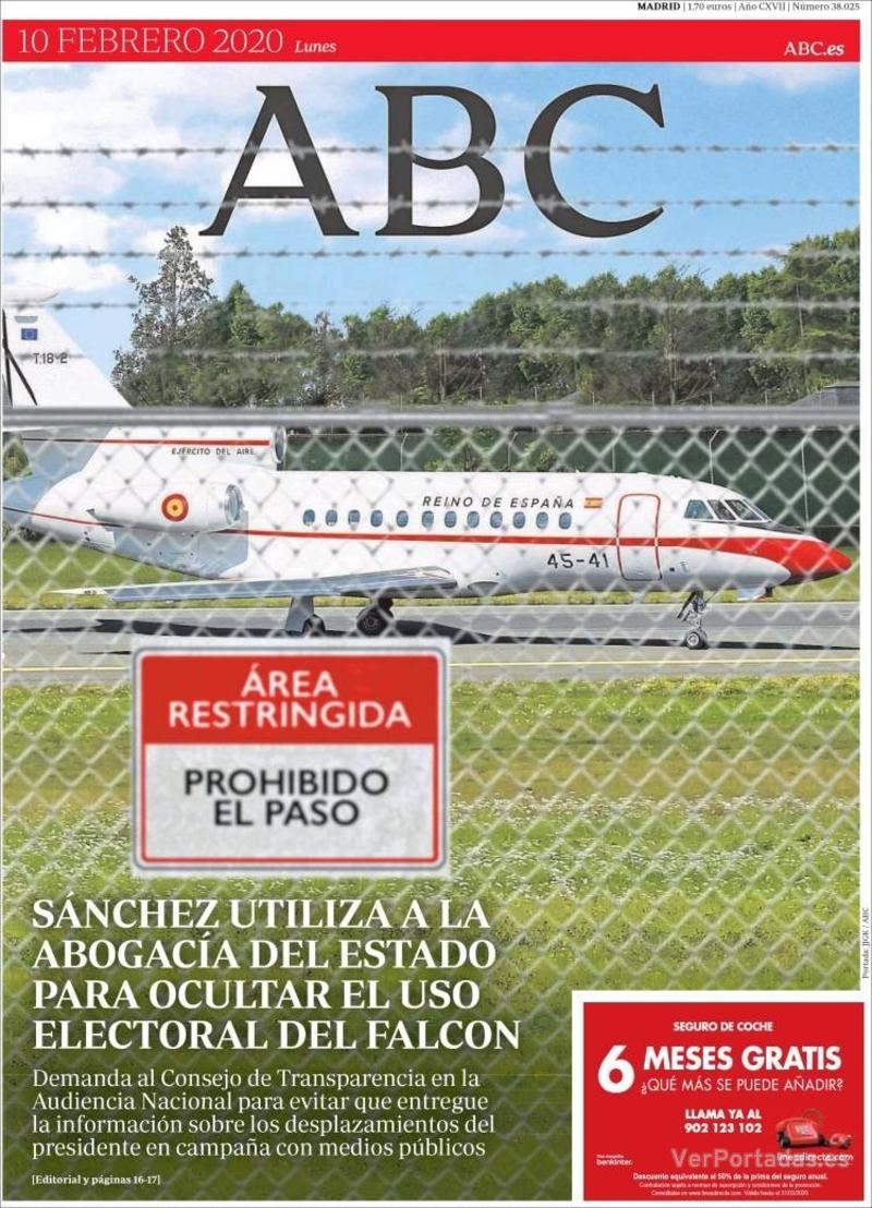 Portada ABC 2020-02-11