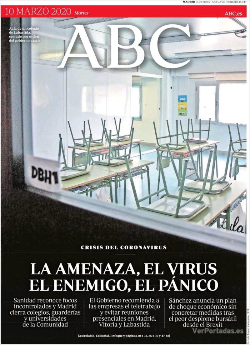 Portada ABC 2020-03-11