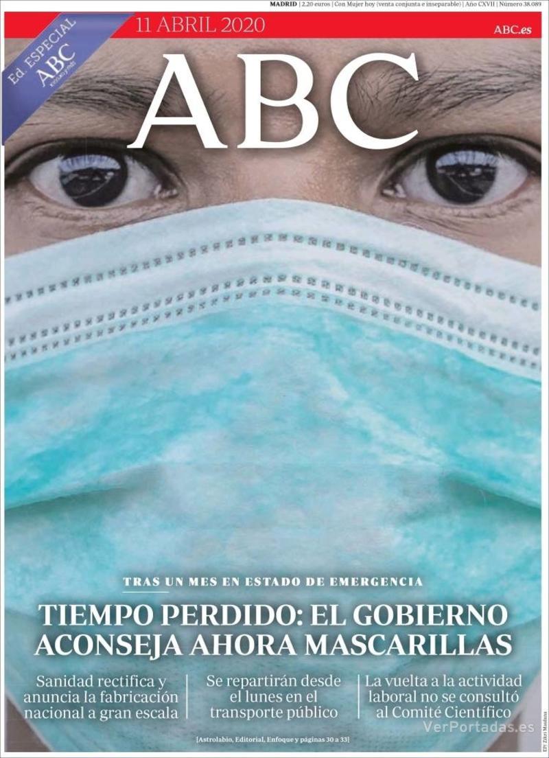Portada ABC 2020-04-12