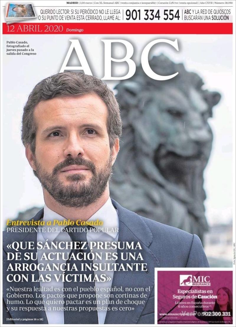 Portada ABC 2020-04-13