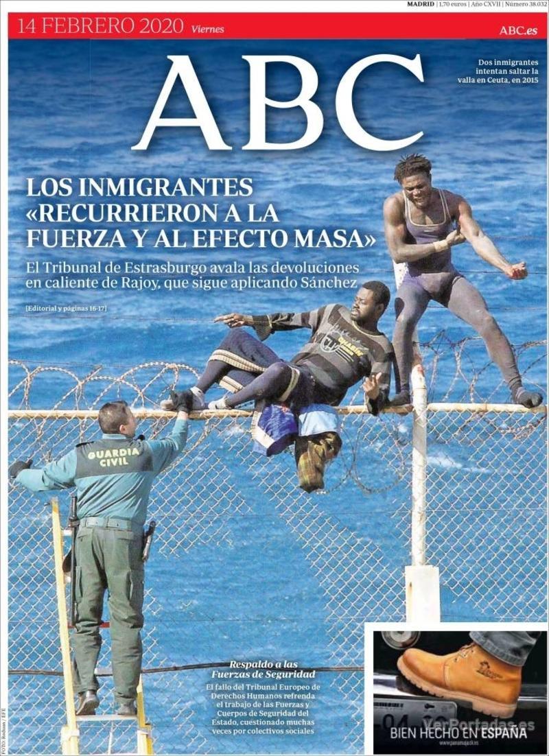 Portada ABC 2020-02-15