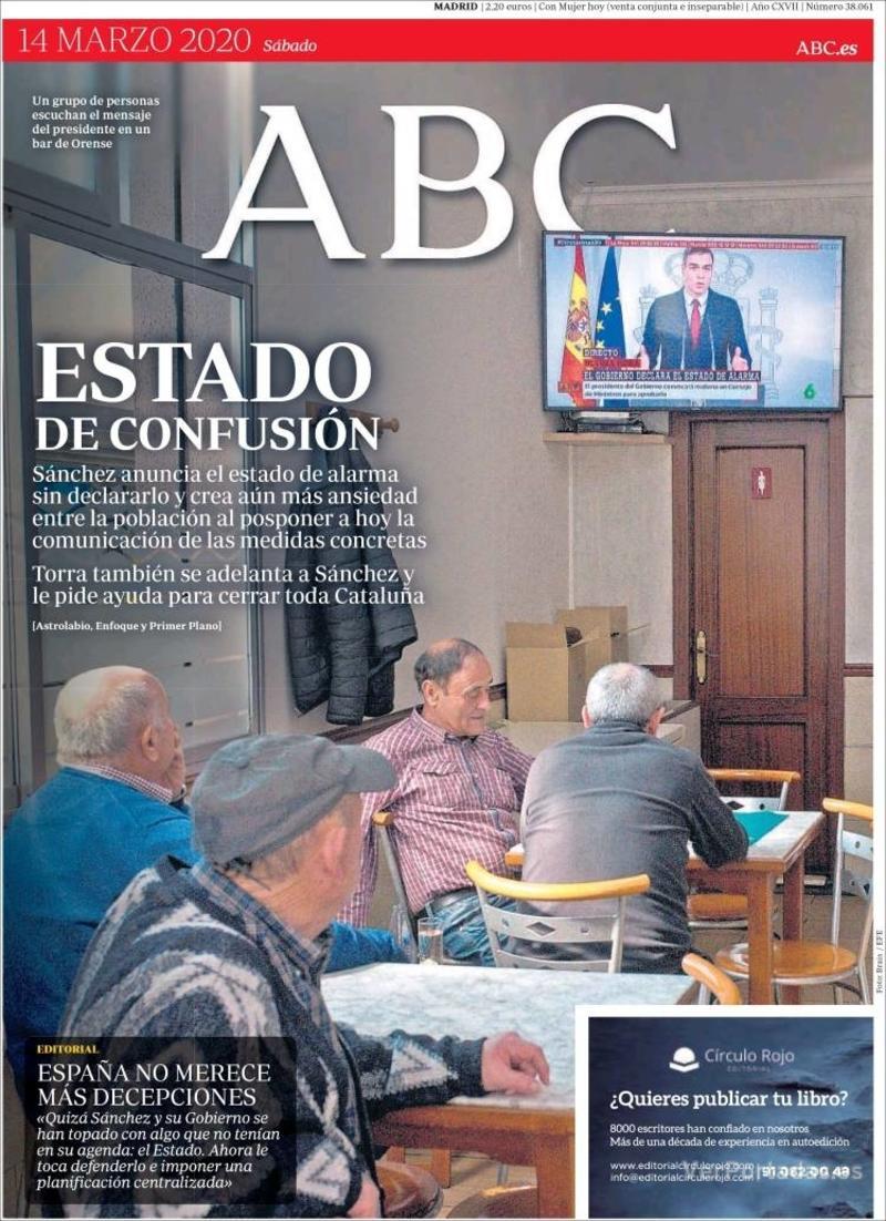 Portada ABC 2020-03-15