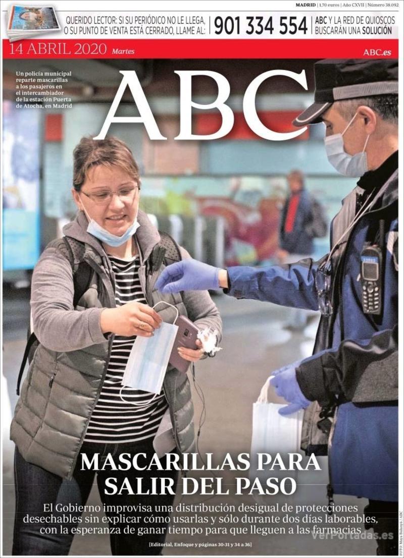 Portada ABC 2020-04-15