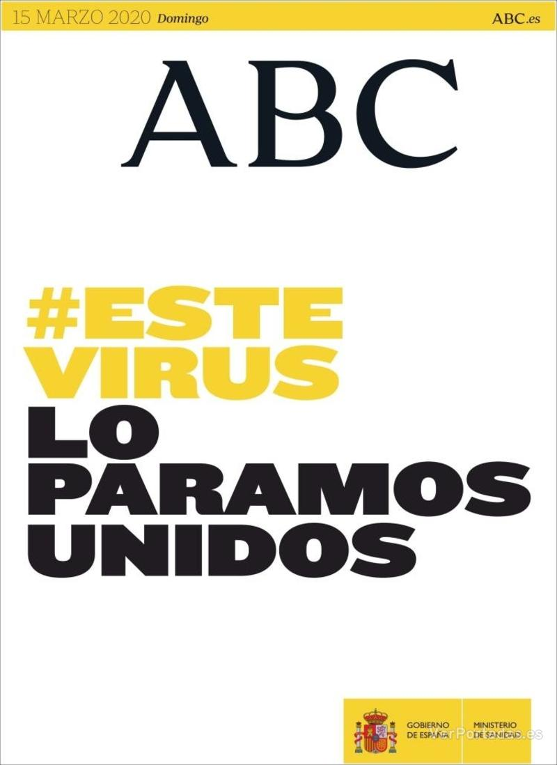 Portada ABC 2020-03-16