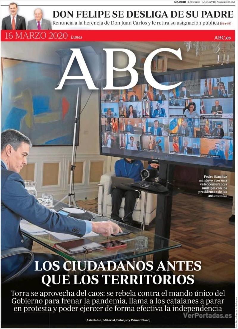 Portada ABC 2020-03-17