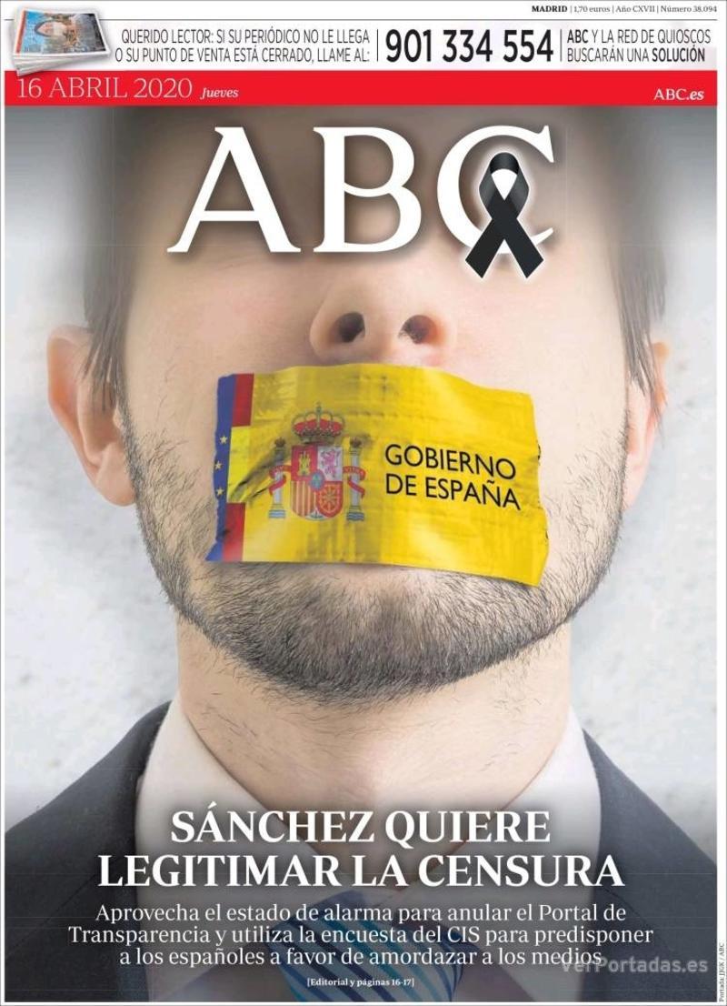Portada ABC 2020-04-17