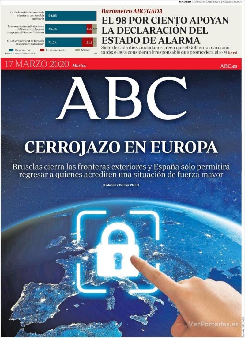 Portada ABC 2020-03-18